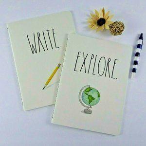 New 2-Set Rae Dunn Explore/Write Notebooks Journal